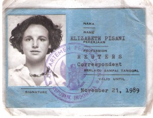 Elizabeth Pisani Indonesian Press Card 1989